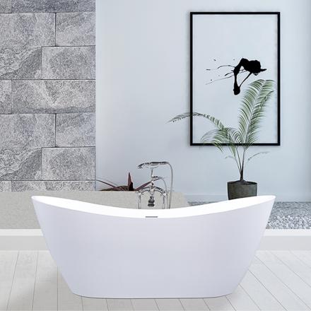 Fristående badkar med Lucite akryl - A-35