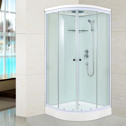 Duschkabin med takdusch - 90x90cm