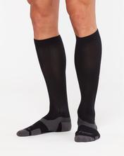 2XU Vectr Light Cushion Full Length Socks Black/Titanium