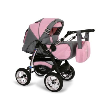 Baby Merc - Agat 2 In 1 kombibarnvagn - Rosa
