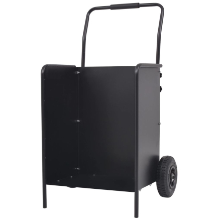 vidaXL brændevogn med pneumatiske hjul 46 x 35 x 100 cm