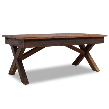 vidaXL Soffbord i massivt återvunnet trä 110x60x45 cm