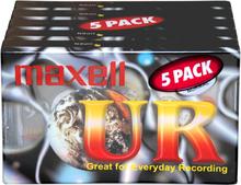 Maxell UR90 Blank Recording Cassette Tapes - 5-pack