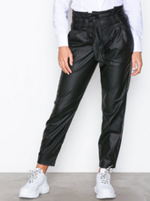 Only onlNADIA Faux Leather Paperbag Pant