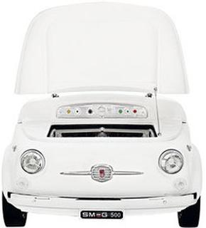 Smeg Fiat 500 Kylskåp Vit