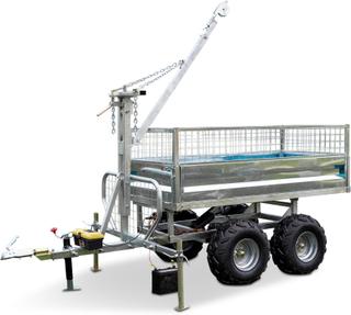 Skogs- och timmervagn ATV med elektronisk tippning