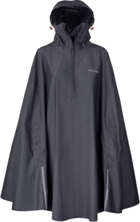 Tenson Drizzle Unisex Rain Poncho Unisex regnjakker Sort XXS/XS