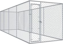 vidaXL Hundgård för utomhusbruk 7,6x1,9 m
