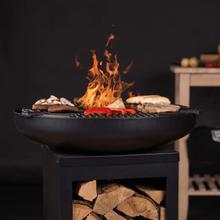 BBGRILL Grill med stekhäll Matanzas stål matt svart
