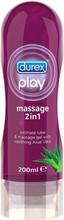 Durex Play Massage 2-in-1: Aloe Vera, Glidmedel/Gel, 200 ml