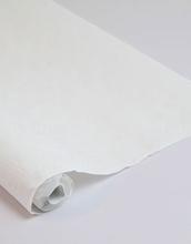 8 meter Hvit Damaskmønstret Papirduk på Rull