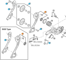 Shimano XT M786 GS Bakväxel Innerplatta Inre platta,gS
