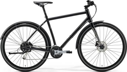 """Merida Crossway Urban 100 Hybridcykel Svart, 28"""", Skivbroms, 27 växlar, 12,3kg"""