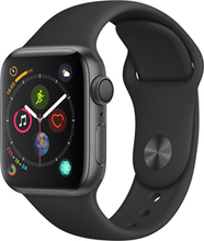 Apple Watch Series4 GPS, 40mm Space Grey Aluminium Case with Black Sport Band
