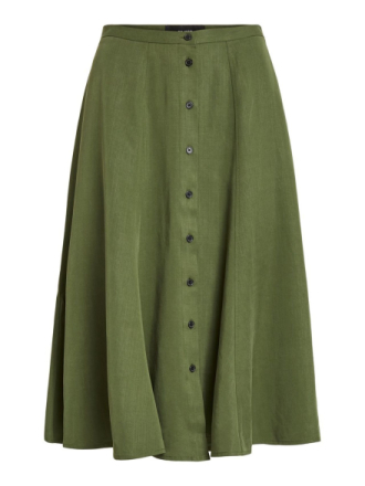 OBJECT COLLECTORS ITEM Button Detailed Midi Skirt Women Green