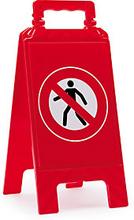 Warnaufsteller ''Für Fußgänger verboten''