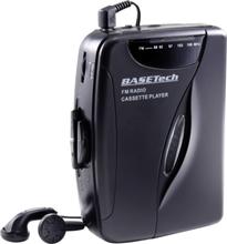 Basetech Bärbar kassettbandspelare Svart