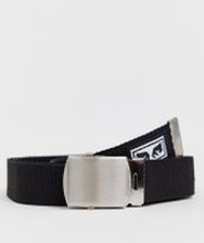 Obey Big Boy webbing belt in black - Black