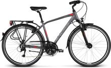 Kross Trans 4.0 Herr Hybridcykel Grå/RÖd, 21 gir, Långfärdscykel, 17,2kg