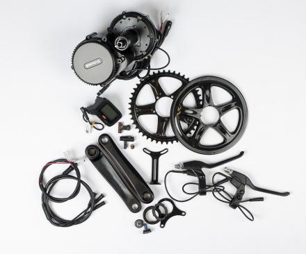Bafang G340 El-cykel Kit u/Batteri Vevmotor med alla delar