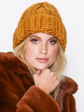 NLY Accessories Chunky Knitted Beanie Mustard