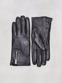 Vero Moda Vmfinna Leather Gloves Vantar & Handskar Svart
