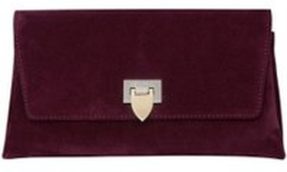 Decadent Nora Small Clutch Suede Oxblood