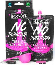 Muc-Off No Puncture Tubeless Kit 140ml. + UV lykt og måleskje