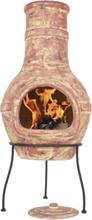LA HACIENDA Copper Banded Large Mexico ovn - kobber ler og stål, håndlavet, rund (Ø40)