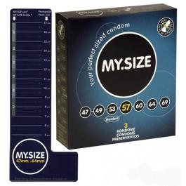 MY.SIZE kondomit 57 mm. 3Kpl