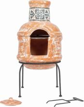 LA HACIENDA Patron Small Mexico ovn m. grill - terracotta ler og stål, rund (Ø36)