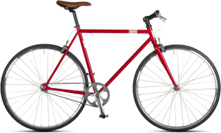 Kapitol Singlespeed Flat Bar cykel Röd, Cr-Mo Ram, 1gir, Aero fälger