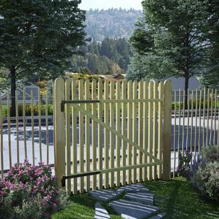 vidaXL hegnslåge imprægneret fyrretræ FSC 100 x 100 cm