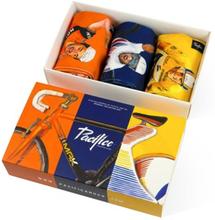 Pacific and Co Cycling Legends gåvopaket Merckx, Indurain och Wiggins strumpor