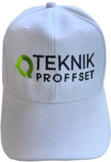 Vit keps med Teknikproffset logo