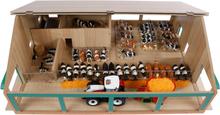 Bondgård och ladugård med mjölkstation leksak Kids Globe 1:32