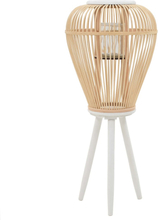 vidaXL Fristående ljuslykta bambu naturlig