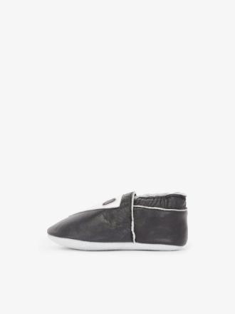 NAME IT Mini Leather Slippers Men Black