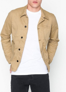 Selected Homme Slhtokyo Sand Cotton Jacket W Jakker Lys brun