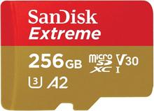 Sandisk Extreme MicroSDXC 256GB R160M/W60 U3 4K A2