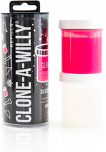 Clone-A-Willy - Refill Glow in the Dark Hot Pink Silicone
