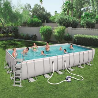Bestway Power Steel pool rektangulær 732 x 366 x 132 cm 56474