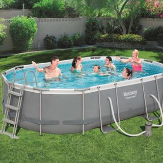 Bestway Power Steel pool oval 488 x 305 x 107 cm 56448