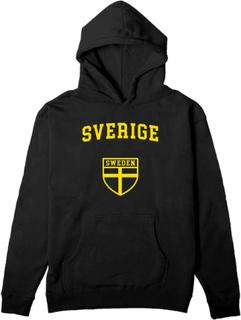 Svart unisex hoodie - sverige