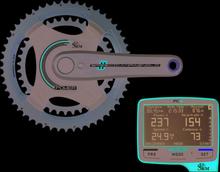 SRM Campagnolo 52/36T Wattmätare System Komplett System m/Wattmätare och PC8