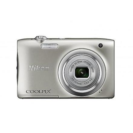 Kamera Nikon Coolpix A100 sølv kompakt
