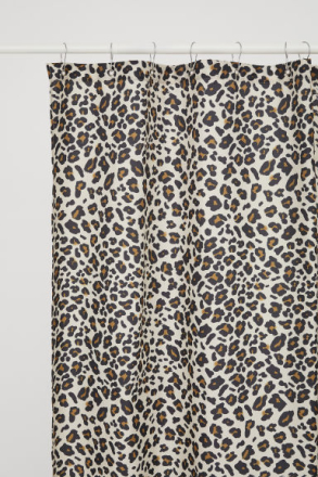 H & M - Leopardikuvioinen suihkuverho - Ruskea