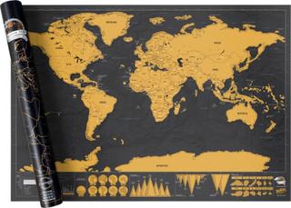 XXL Scratch Map - Världskarta där du skrapar de länder du besökt