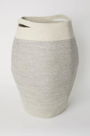 H & M - Juuttinen pyykkikori - Valkoinen