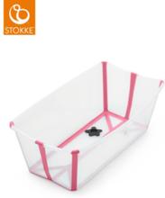 Stokke Flexi Bath Bundle med Värmekänslig Propp (Transparent Rosa)